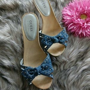 Guess By Marciano denim Jean Heels